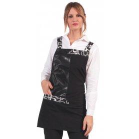 GREMBIULE CLOTHY TECNICO/NERO/CATENA